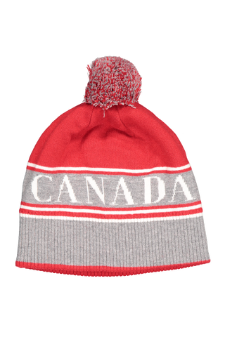 Front image of Canada Goose Women's Canada Goose Pom Toque Hat Red