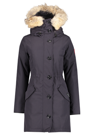 Front view of Canada Goose Women's Rossclair Parka Navy
