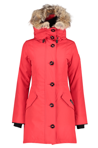 Front view image of Canada Goose Women's Rossclair Parka Red