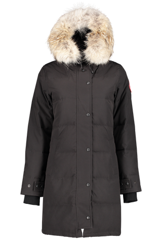 Front view of Canada Goose Women's Shelburne Parka Black
