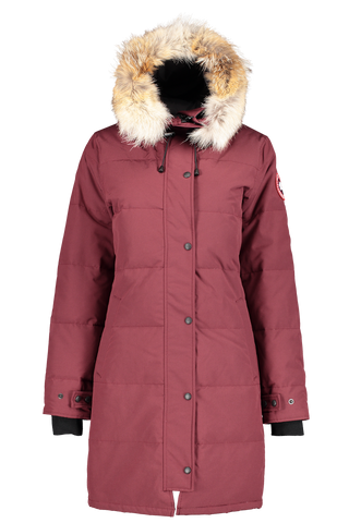 Front image of Canada Goose Women's Shelburne Parka Elderberry