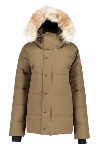 Front image of Canada Goose Men's Wyndham Parka Military Green