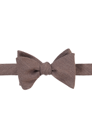 Bow Tie Charcoal Grey Diagonal Sripe