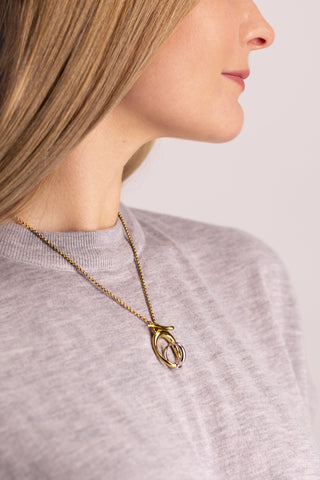 Image of Charlotte Chesnais Turtle Necklace on model
