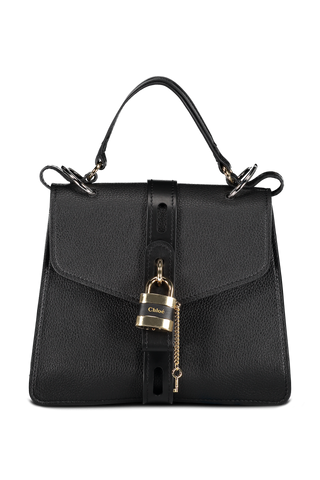 Front image of Chloé Aby Handbag Black