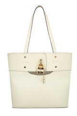 Front Image of Chloe Aby Tote Natural White Bag