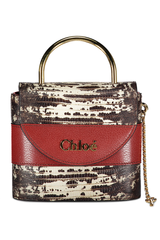 Front view image of Chloé Abylock Bag Sepia Brown