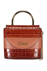 Front view image of Chloé Abylock Bag Chestnut Brown