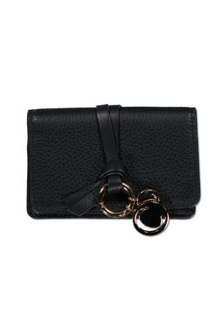 Front image of Chloé Alphabet Wallet Black