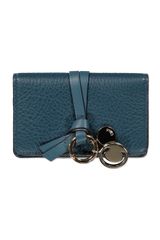 Front image of Chloé Alphabet Wallet Navy Ink