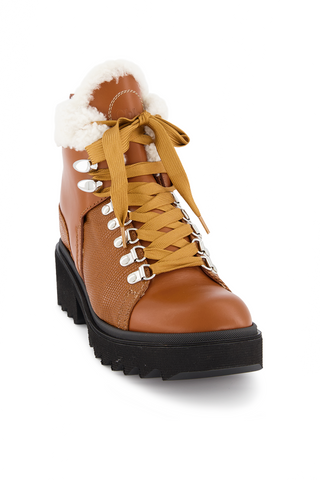 Front angled view image of Chloé Bella Boot Canyon Brown