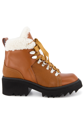 Side view image of Chloé Bella Boot Canyon Brown