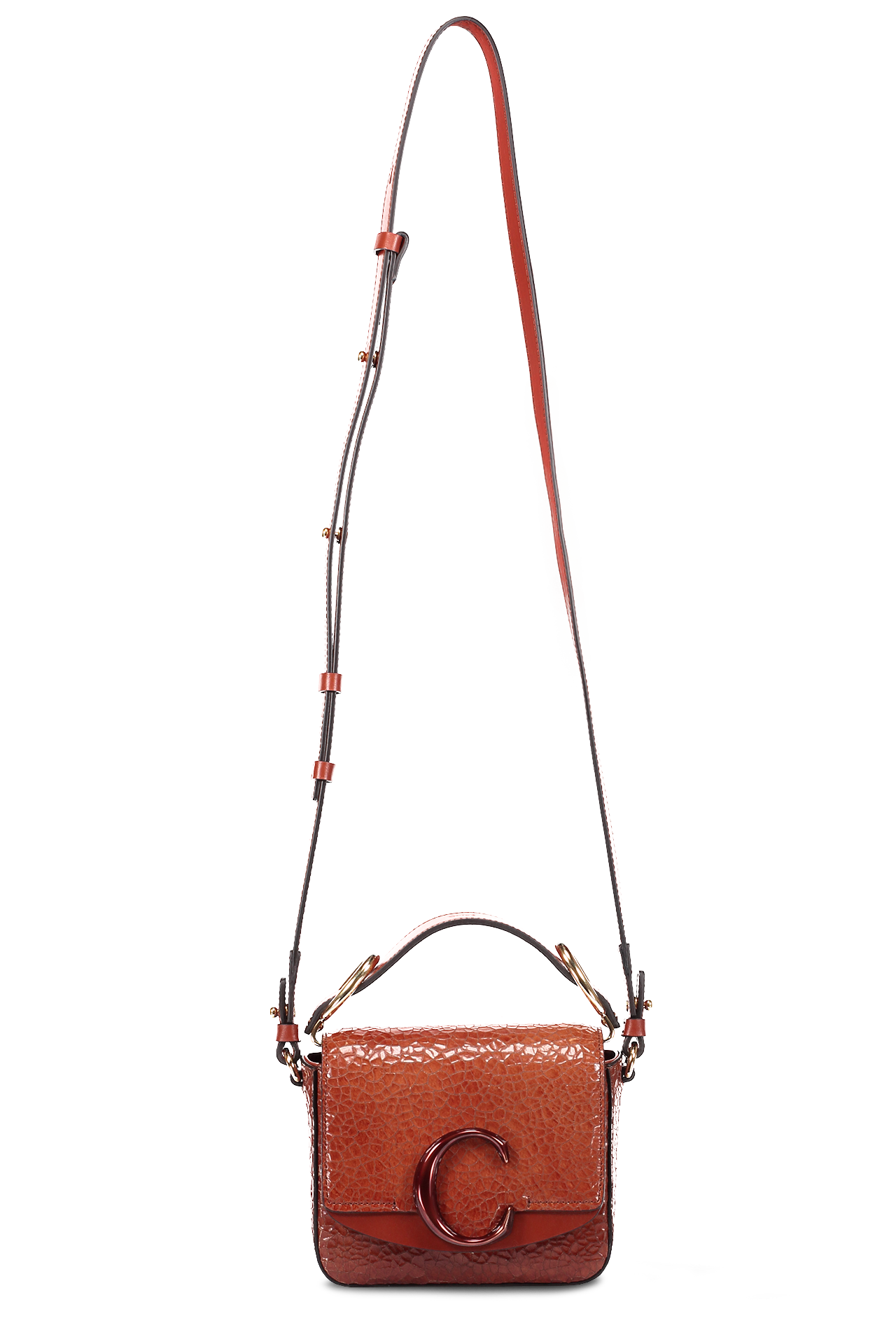 "Front Image with Long Strap Chloé ""C"" Handbag"