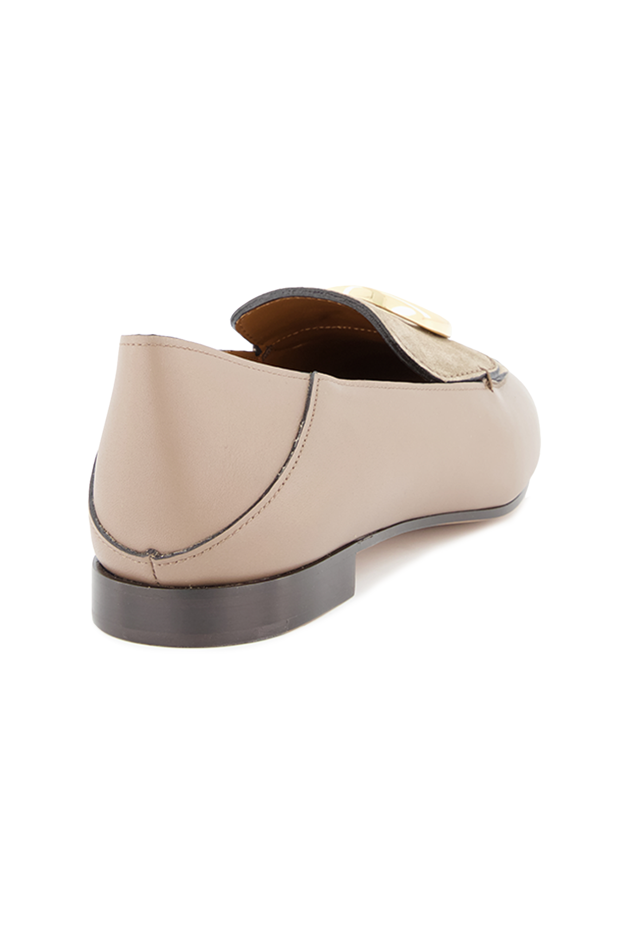 Back angled view image of Chloé C Loafer Motty Grey