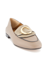 Front angled view image of Chloé C Loafer Motty Grey