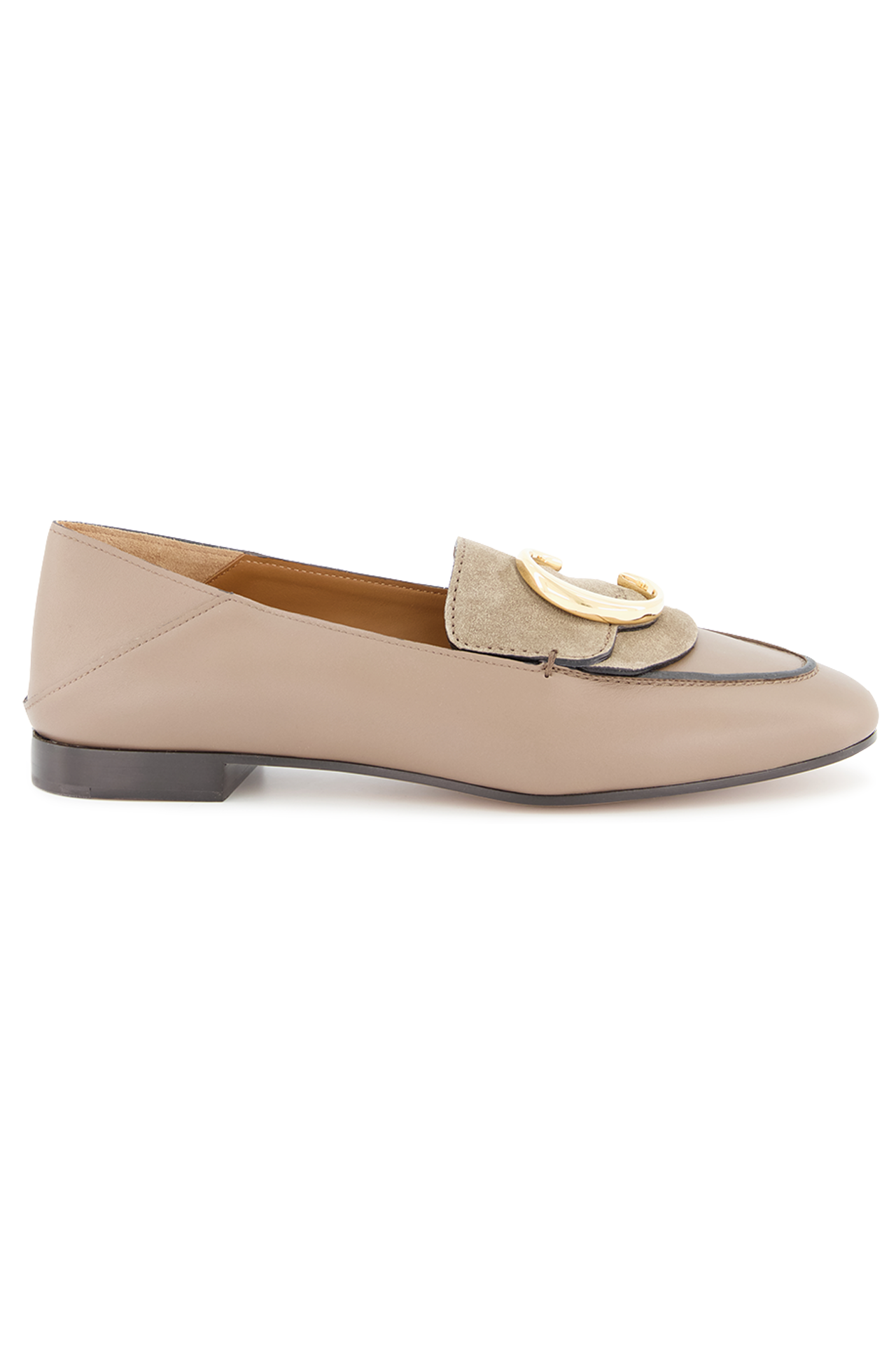 Side view image of Chloé C Loafer Motty Grey