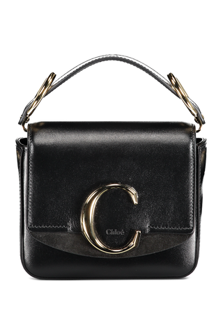 Front Image Of Chloe C Mini Bag Black