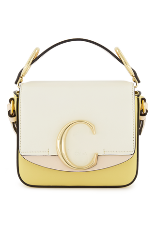 Chloe C Mini Box Bag Yellow White