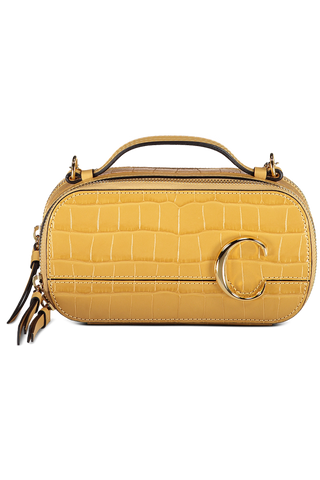Front detail image of Chloe C Mini Vanity Bag Honey Gold