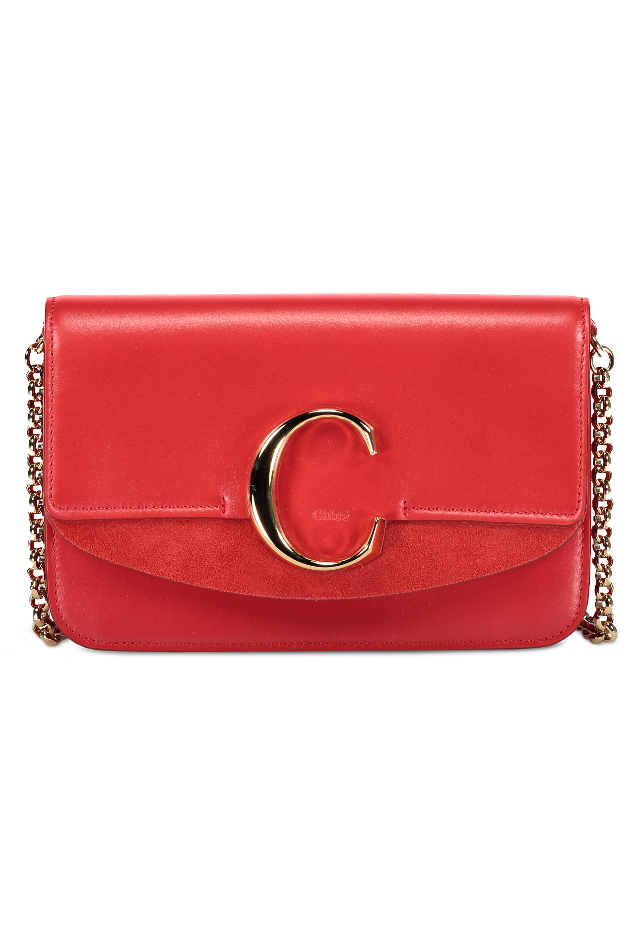 7656a89239 Chloé Chain Bag Plaid Red | Women's Bag | A.K. Rikk's