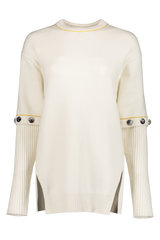 Front image Of Chloé Crewneck Button Sweater