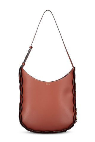 Darryl Medium Hobo Bag Sepia Brown