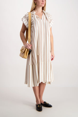 Dégrade Stripe Silk Dress