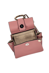 Top view interior image of Chloé Faye Bracelet Bag Rusty Pink