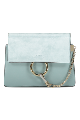 Front view image of Faye Mini Shoulder Bag Faded Blue