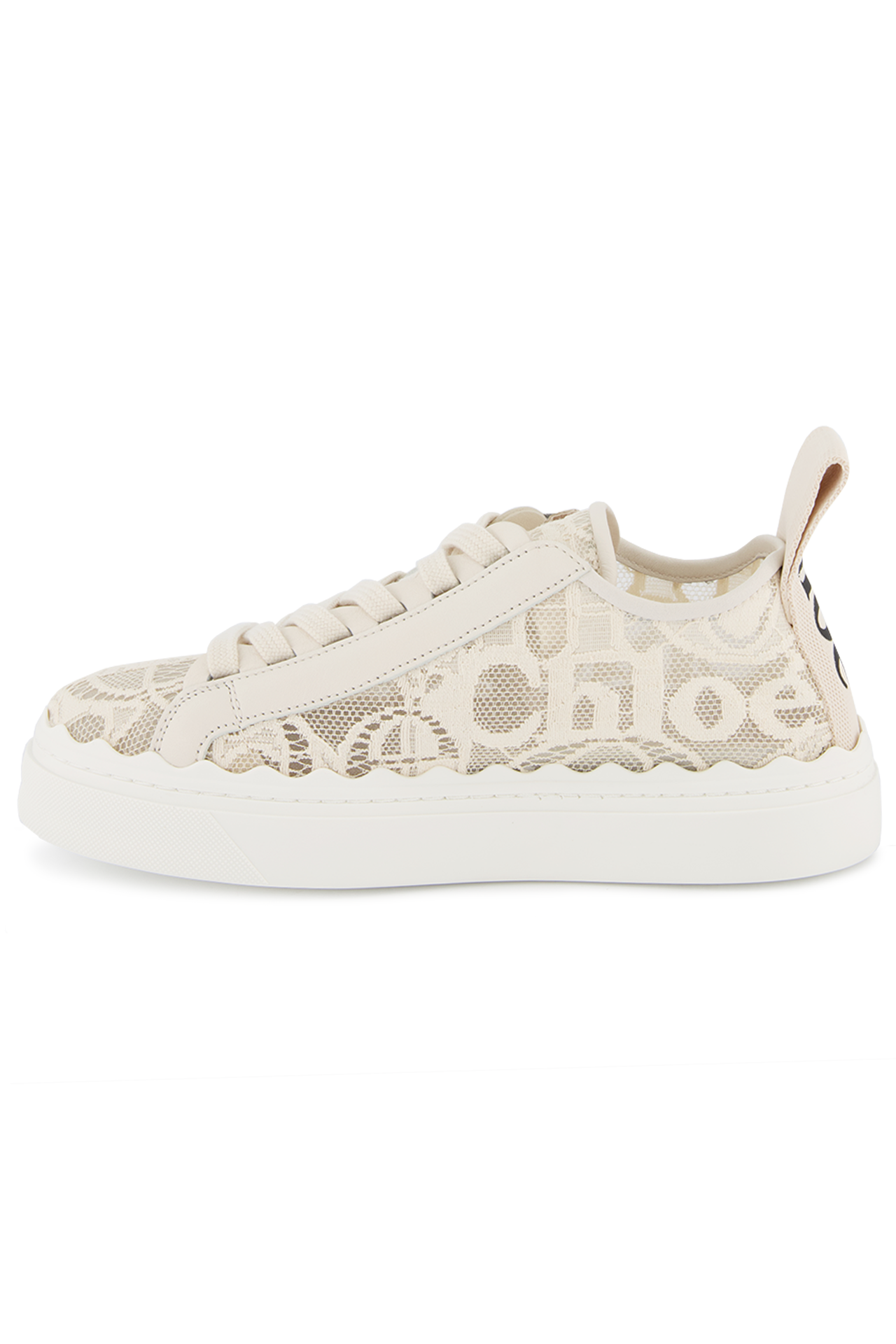 Instep side view image of Chloé Lauren Sneaker Mild Beige