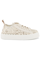 Side view image of Chloé Lauren Sneaker Mild Beige