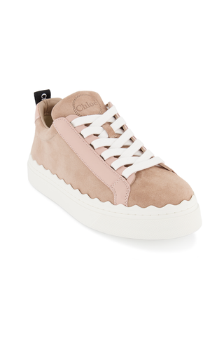 Front angled view image of Chloe Lauren Sneaker Delicate Pink