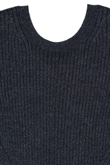 Front collar detail image of Chloé Long Sleeve Knit Dress
