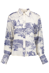 Front view image of Chloé Long Sleeve Printed Blouse