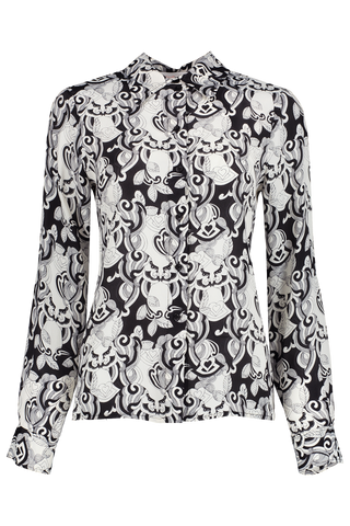 Front view image of Long Sleeve Printed Blouse