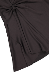Hemline detail image of Chloé Long Sleeve Ruched Dress