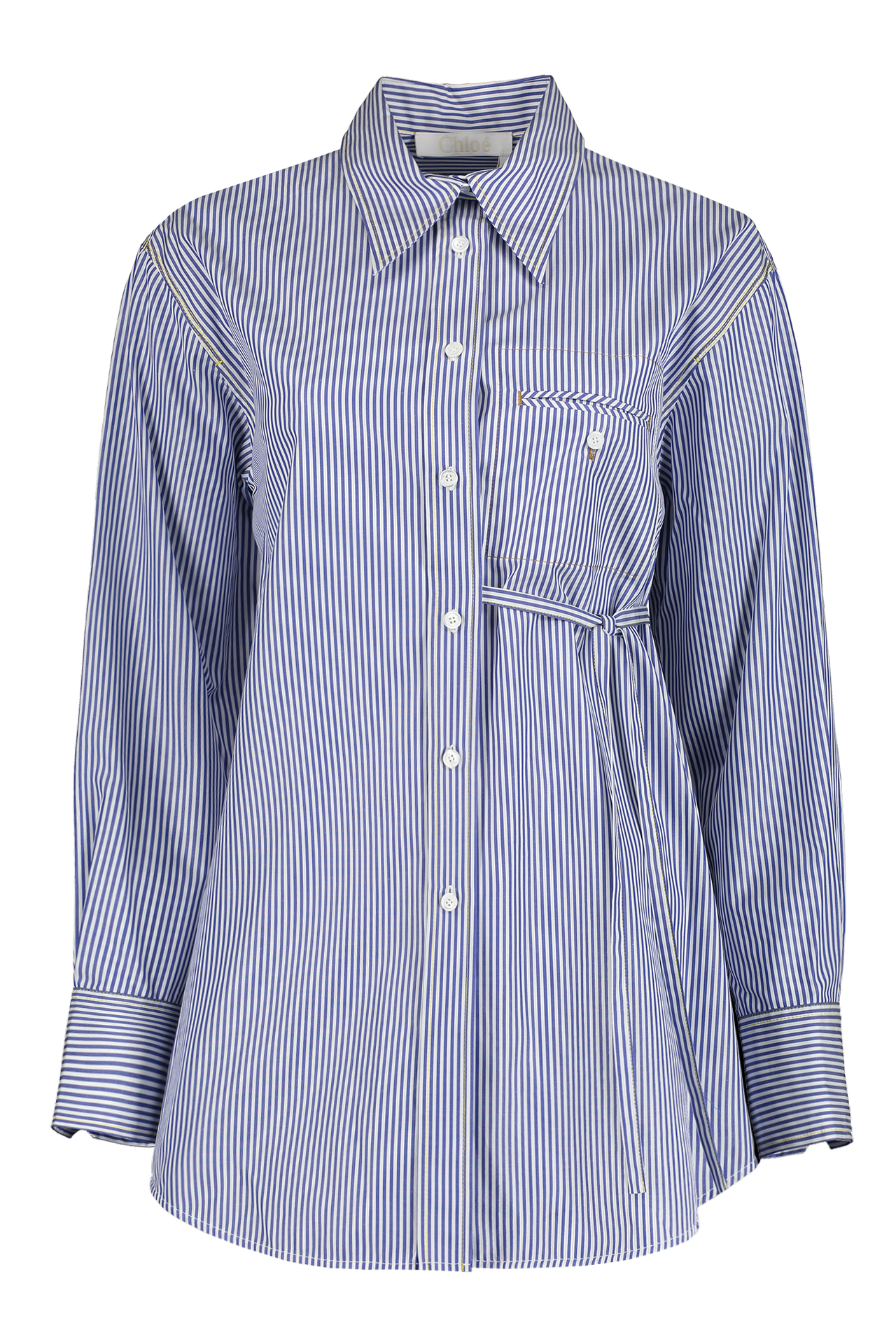 Front view image of Long Sleeve Stripe Blouse