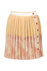 Front view image of Pleated Button Skirt