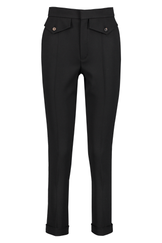 Front view image of Chloé Pocket Trouser Black