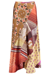Front Image Printed Maxi Skirt