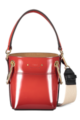 Roy Glossy Bucket Bag Earthy Red