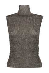 Front view image of Chloé Sleeveless Knit Turtleneck Black