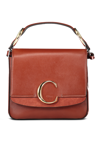 Front Image of Small Chloe C Handbag Sepia Brown