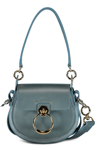 Front Image with Strap Extended Small Tess Bag Cloudy Blue