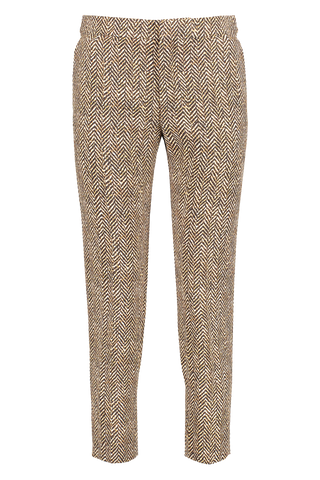 Tweed Pant Brown Beige
