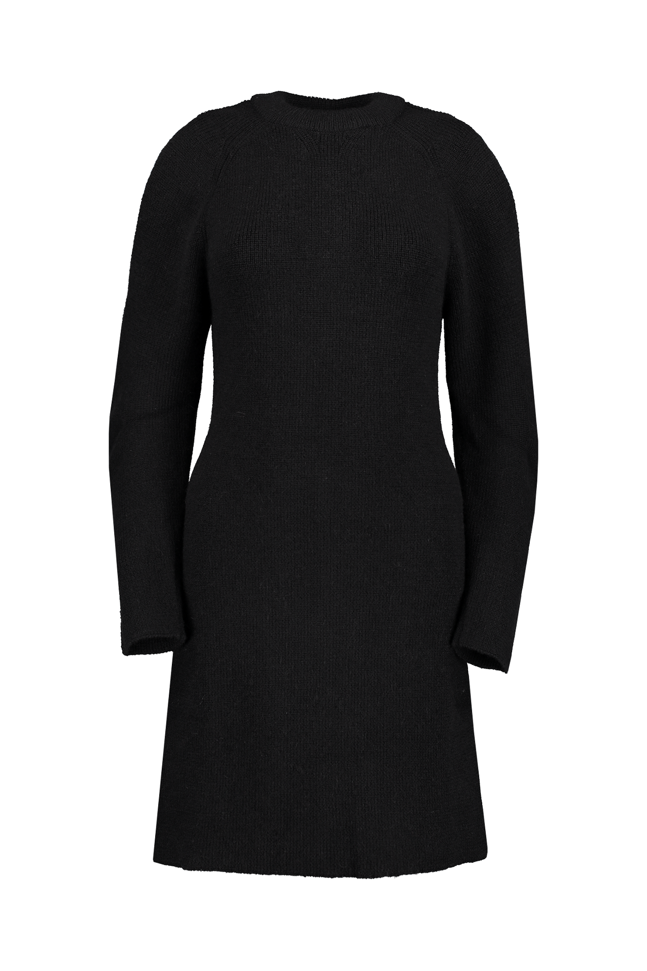 Long Sleeve Sweater Dress In Black