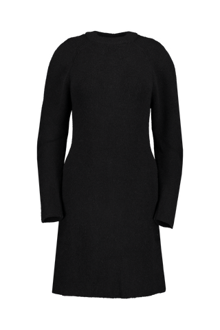 LS SWEATER DRESS BLACK