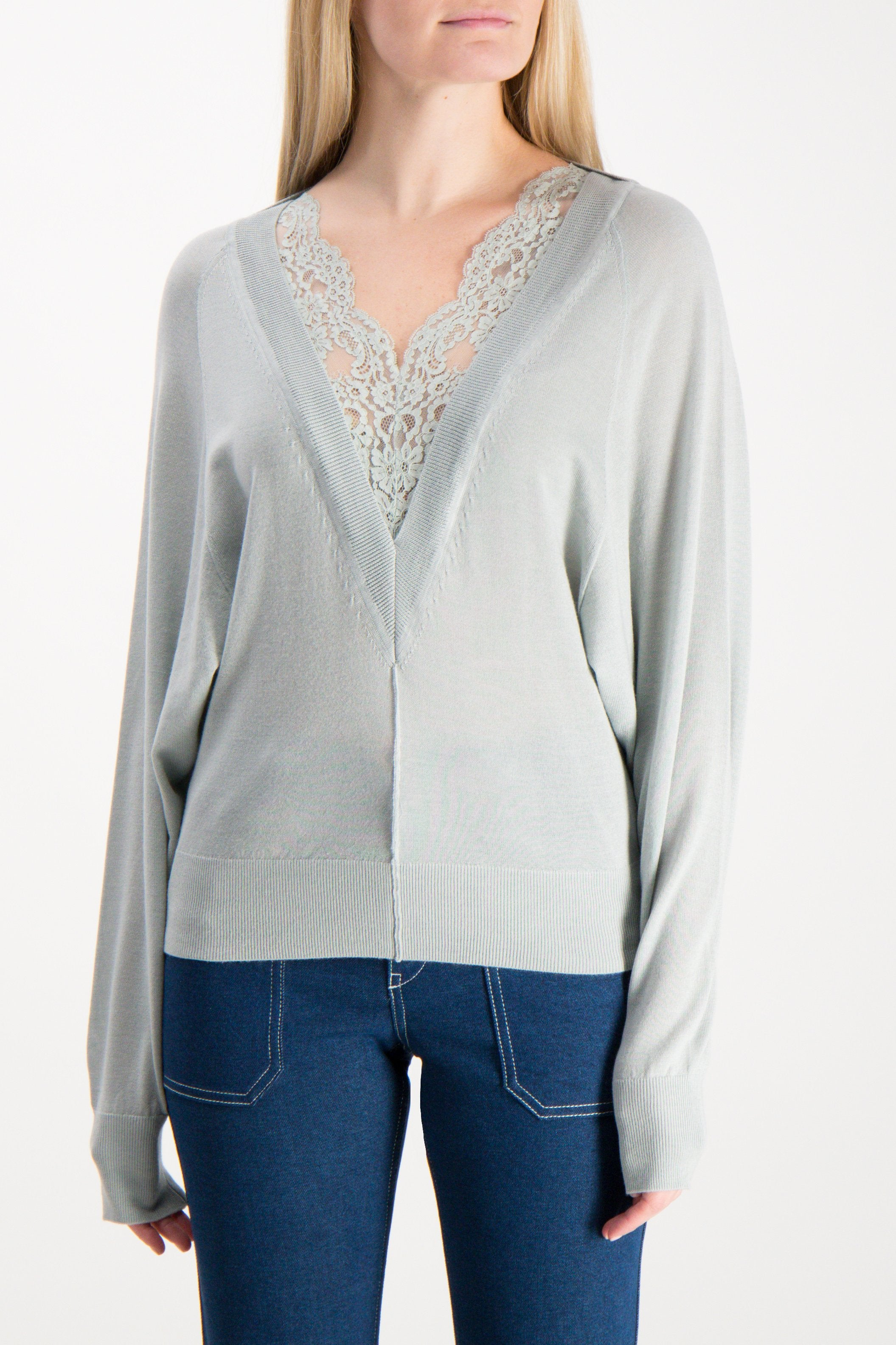 Wool Silk Lace Sweater