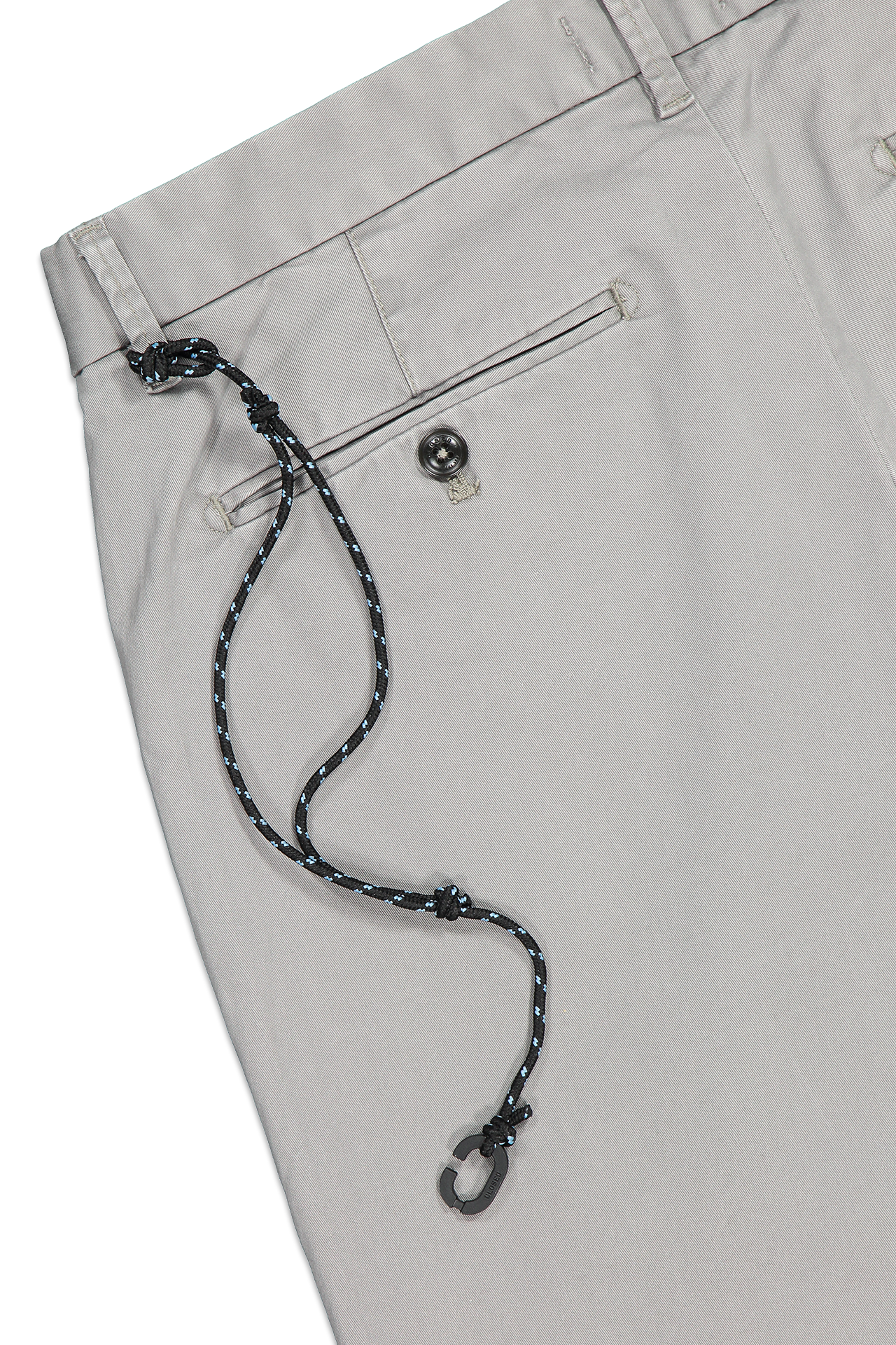 Back pocket and waistline detail image of CLOSED Clifton Slim Chino Shade Grey