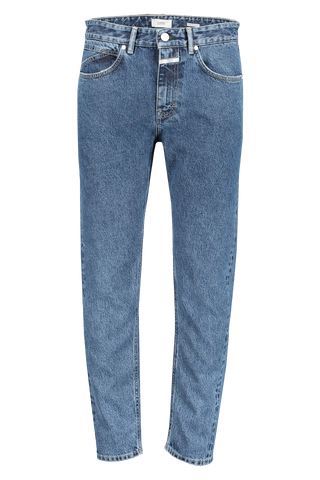 Front view image of CLOSED Cooper Tapered Denim Mid Blue